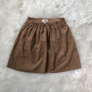 Aritzia Soft Suede Skirt